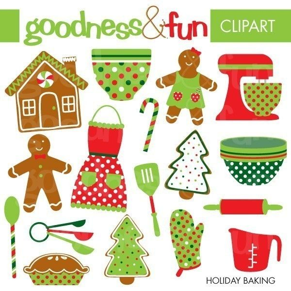 Baking Christmas Cookies Clipart.Popular Items For Cookies Clipart On Etsy Paper Wonders