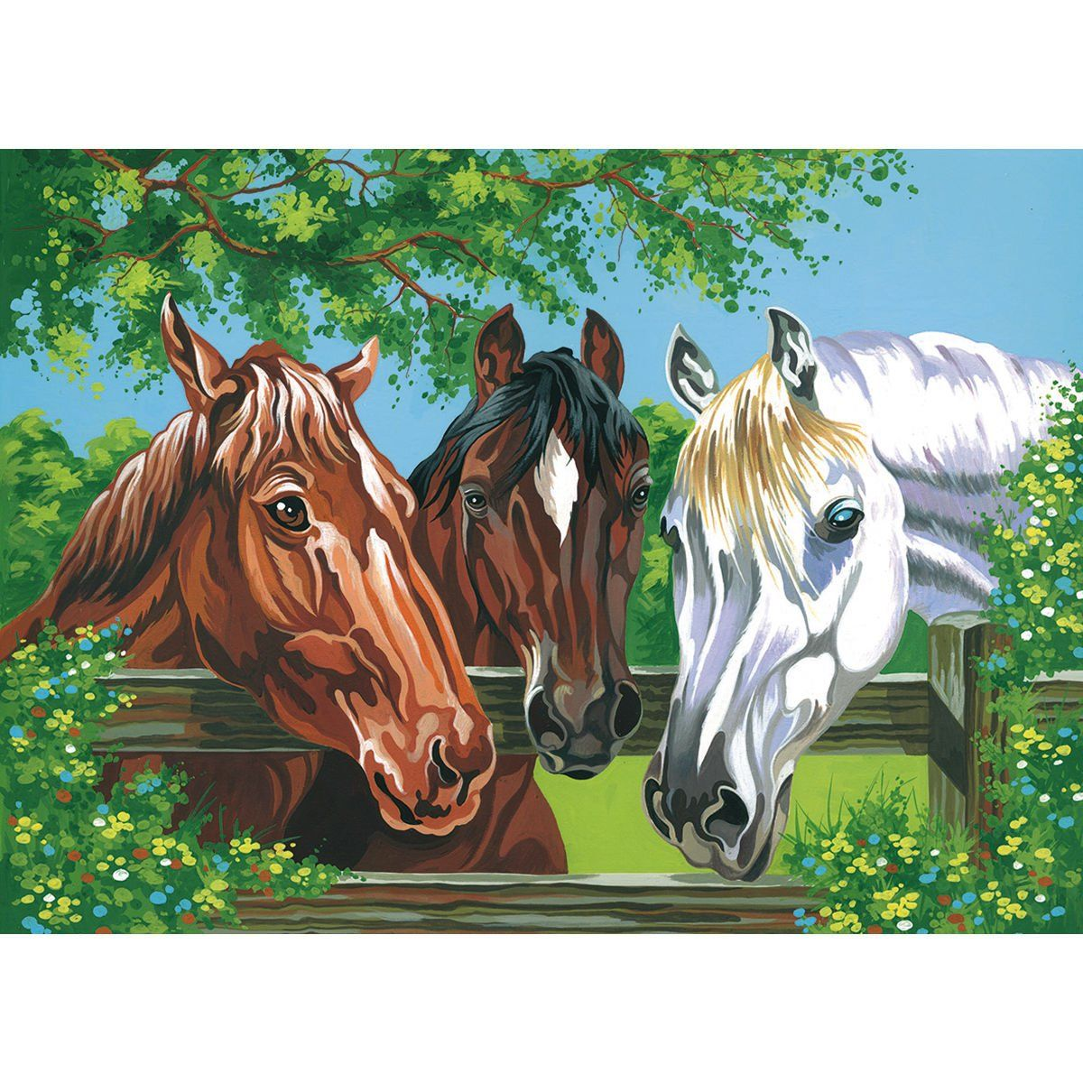 """Paint By Number Kit 12""""X16""""Horses Awesome products"""