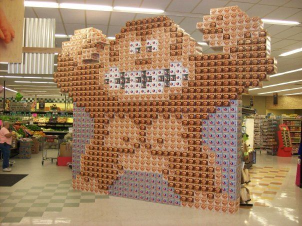 my soda display creations