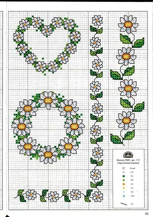 daisy wreath Gallery.ru / Фото #43 - Вышиваем крестом цветы, букеты, деревья - tymannost