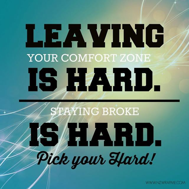 Don't let things that are hard, hold you back!   It Works