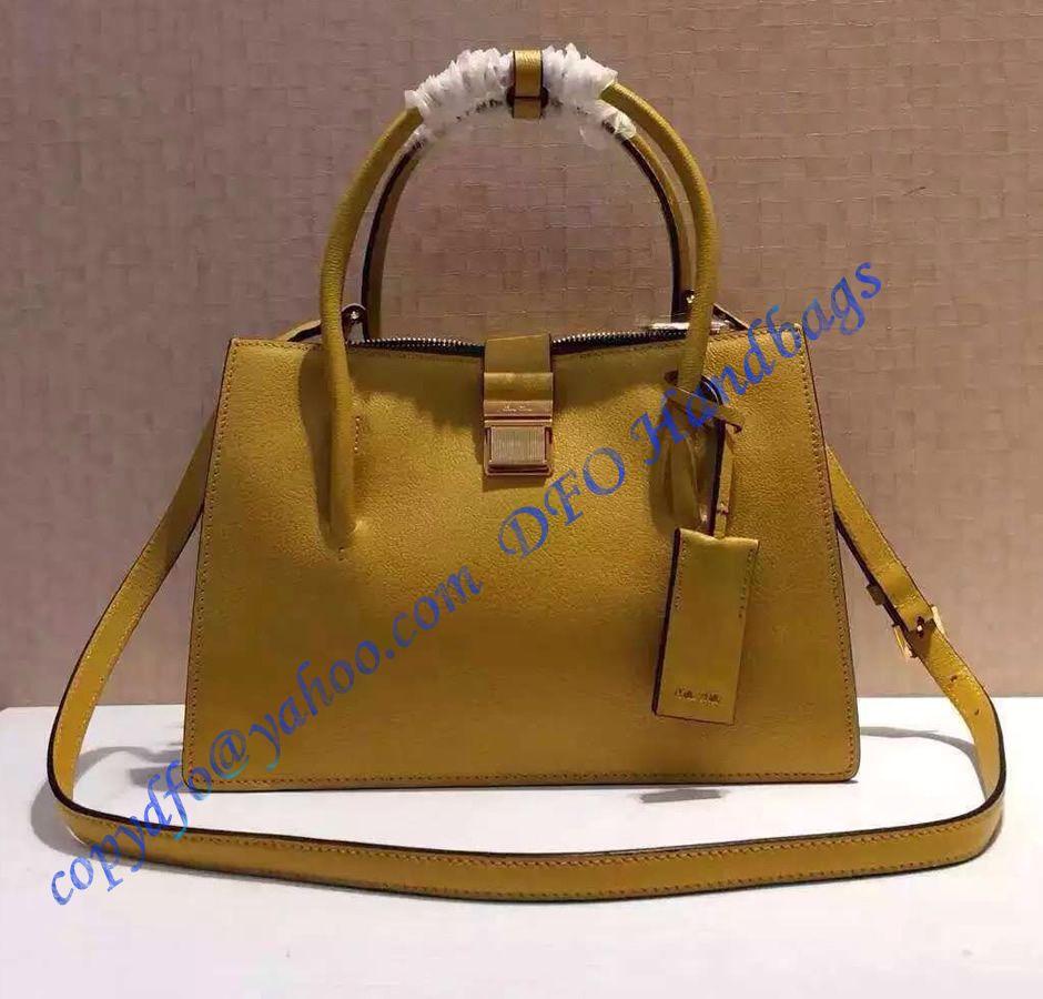 32a9237e7e Fendi Mini 3Jours in Yellow Leather Handbag in 2019