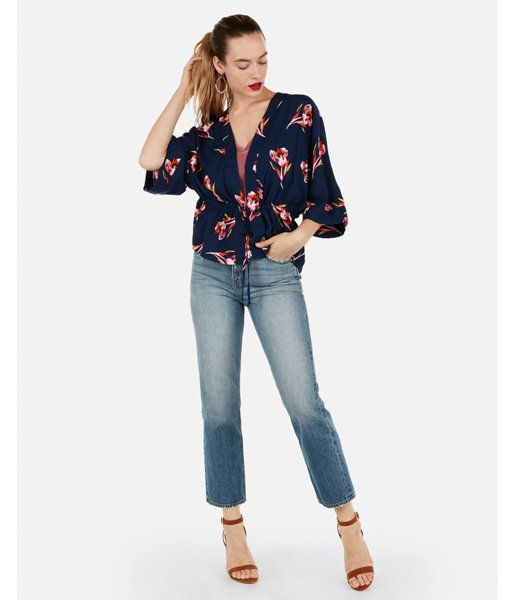8a23176dcd Express Floral Cinched Waist Kimono Top in 2019