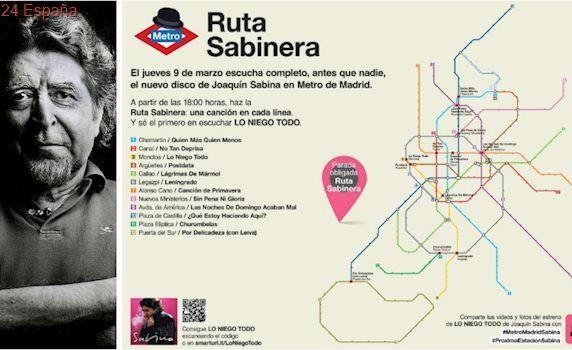 Las canciones del nuevo álbum de Sabina sonarán antes en el metro