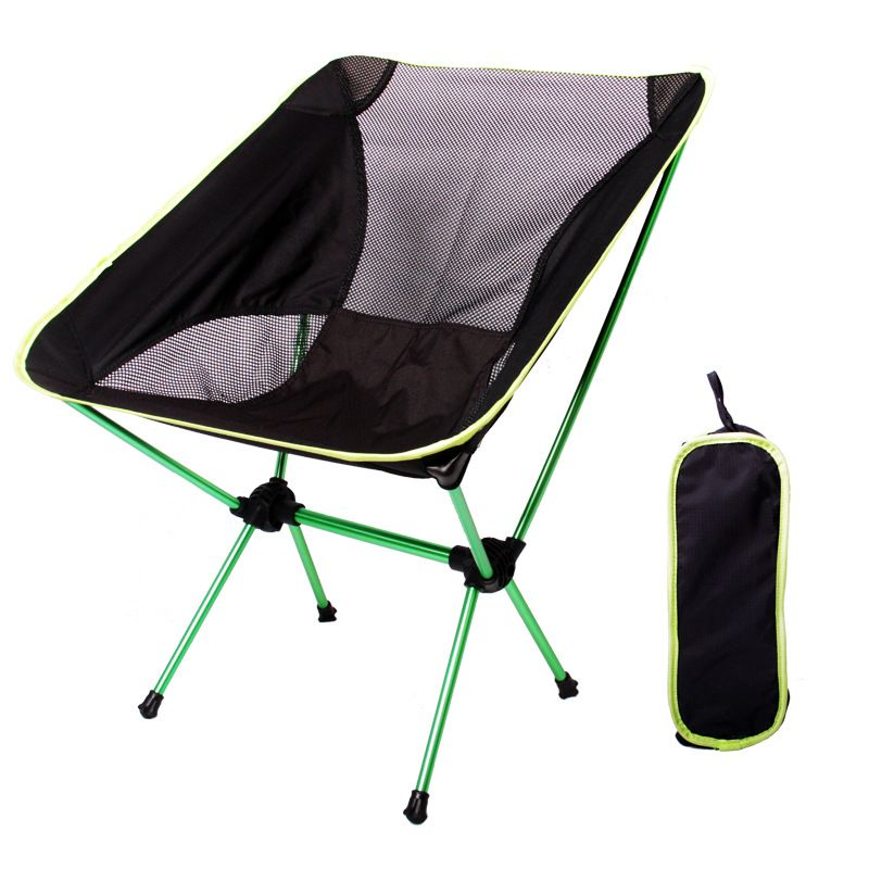 portable aluminum folding hiking camping stool chair seat for
