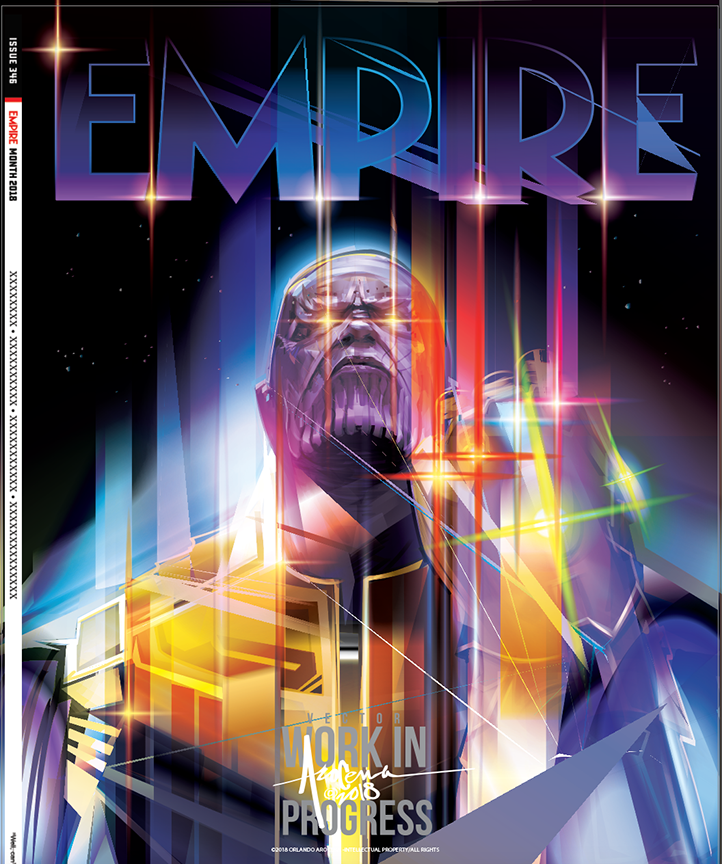 Empire Magazine Thanos Vector Cover Commission On Behance