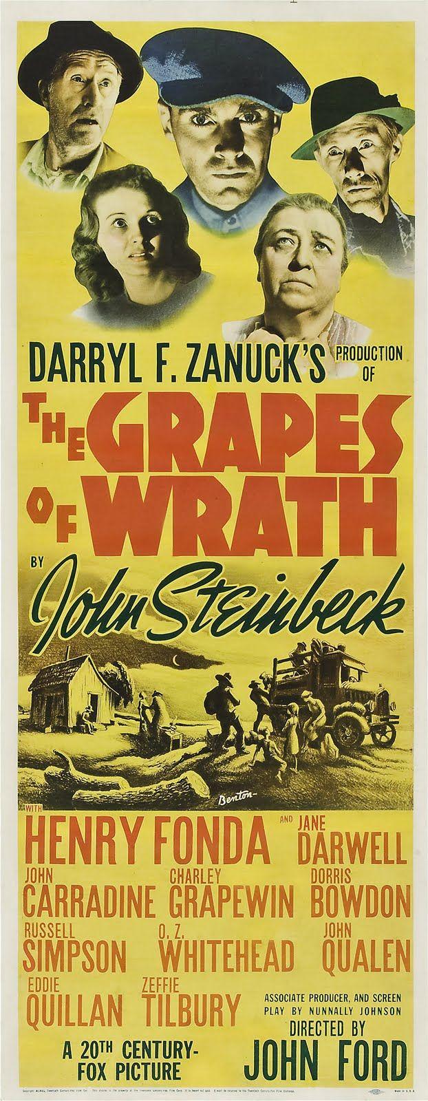 Las Uvas De La Ira 1940 John Ford Es Reconocido Por La Acaademia Como El Mejor Director En 1940 Cine Y Literatura Carteles De Cine Cine