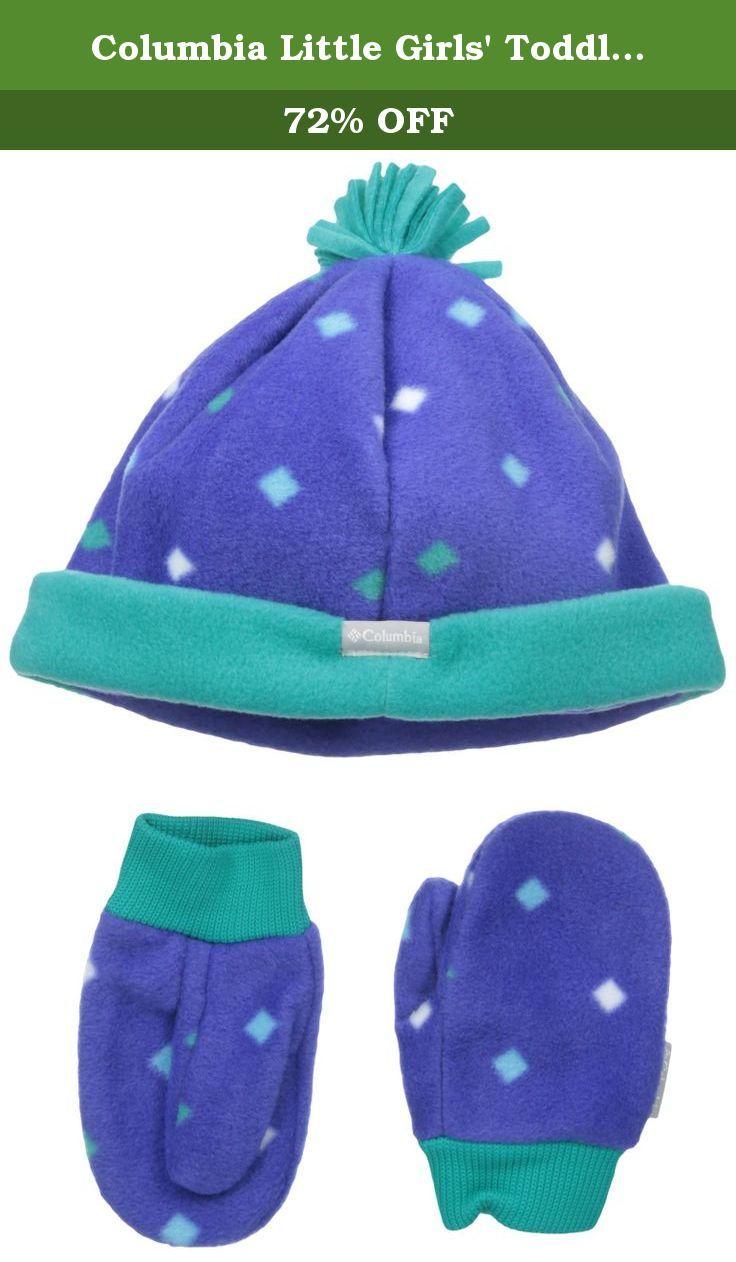 3cbe174873f Columbia Little Girls  Toddler Frosty Fleece Hat and Mitten Set ...