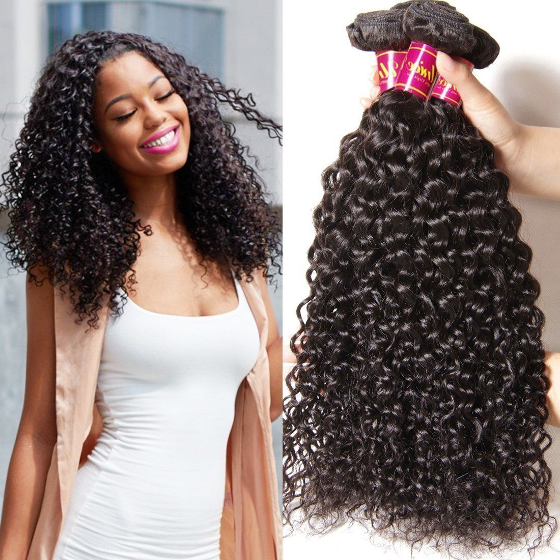 Unice Wholesale Malaysian Virgin Curly Hair Extensions 3 Bundles