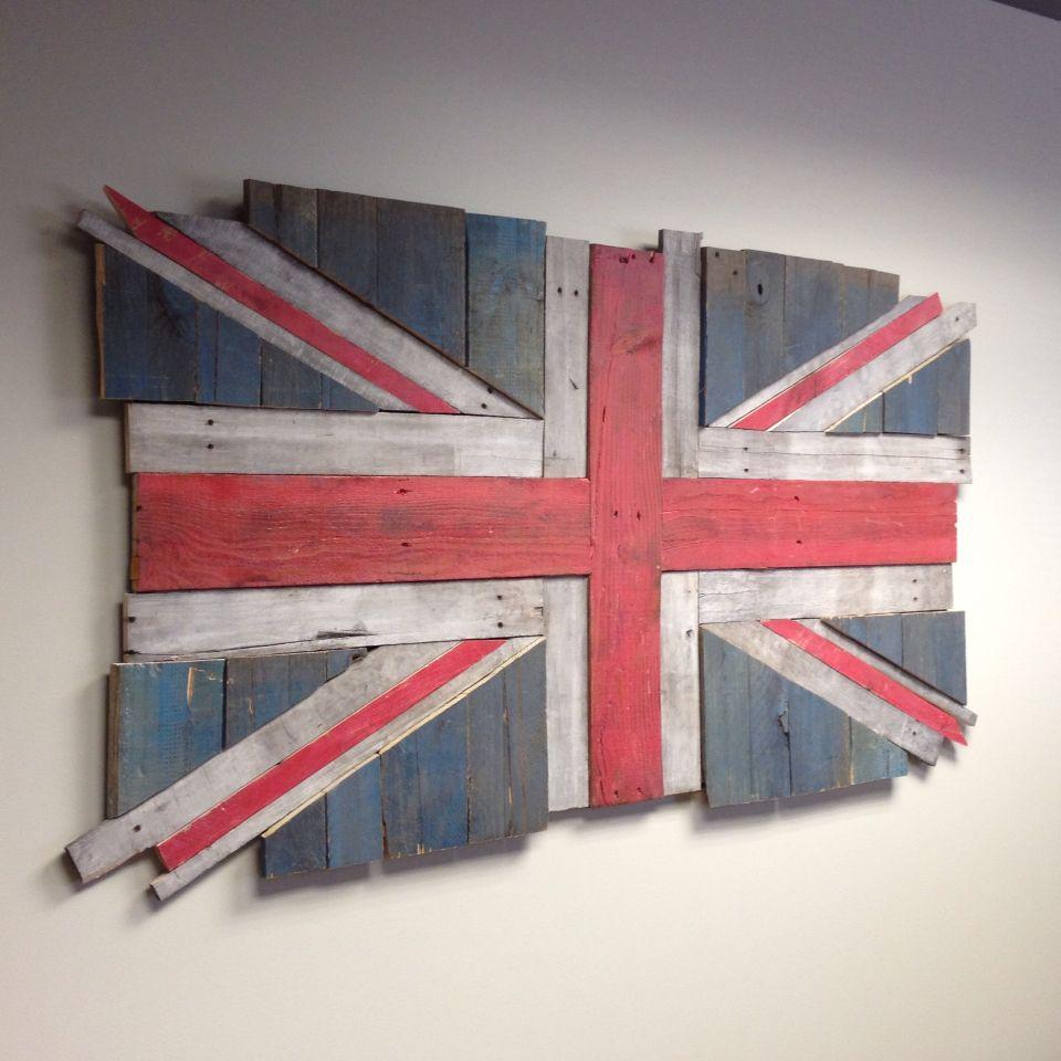 Finished British Flag Union Flag Jack Made From