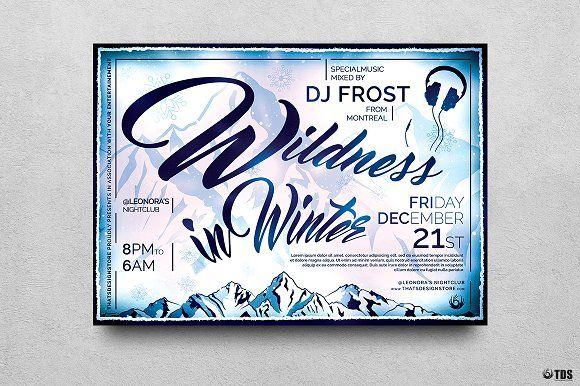 Wildness in Winter Flyer Template by Thats Design Store on