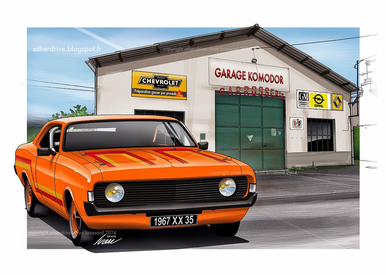 Image illustrative de l article opel ascona - Komodor Garage Opel Commodore 1967