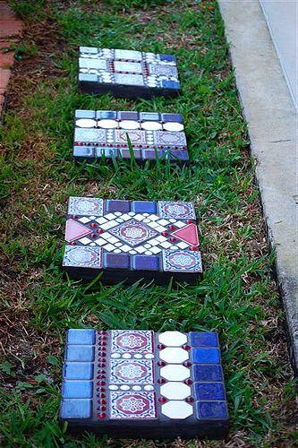 trittsteine aus mosaik Garten Pinterest Trittsteine, Mosaik - trittplatten selber machen
