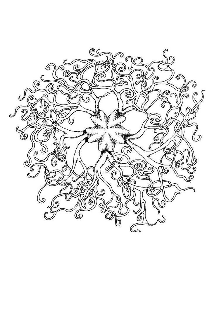 Free Printable Mandala Coloring Pages | Schlange Mandala | Coloring ...