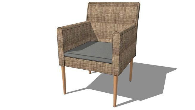 Large preview of 3d model of fauteuil gris st raphael maisons du