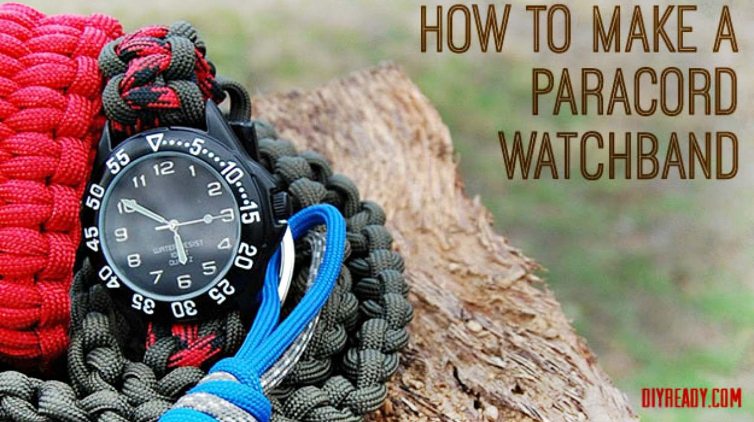 How to make a paracord watchband paracord projects