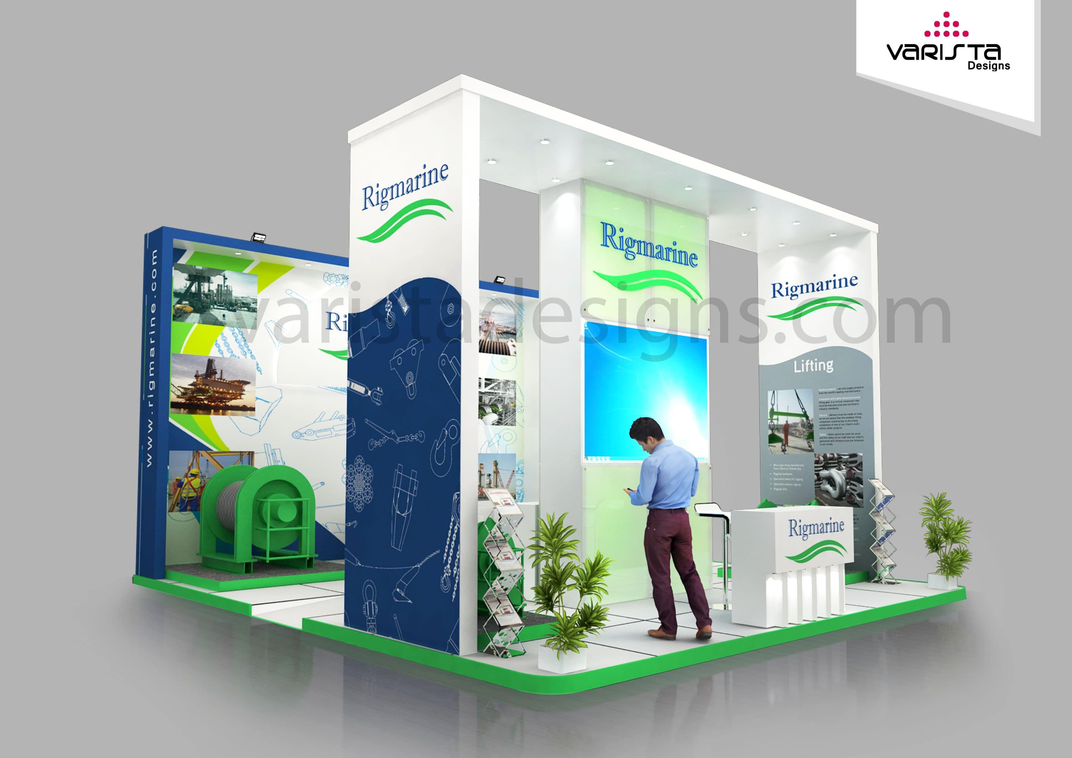 Exhibition Stand Proposal : Exhibition stand design proposal for rigmarine adnec exhibit