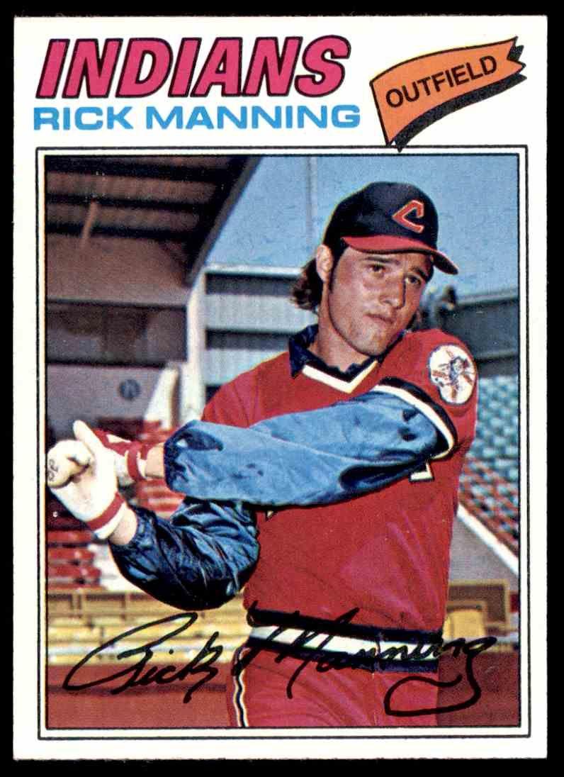 1977 topps rick manning cleveland baseball cleveland