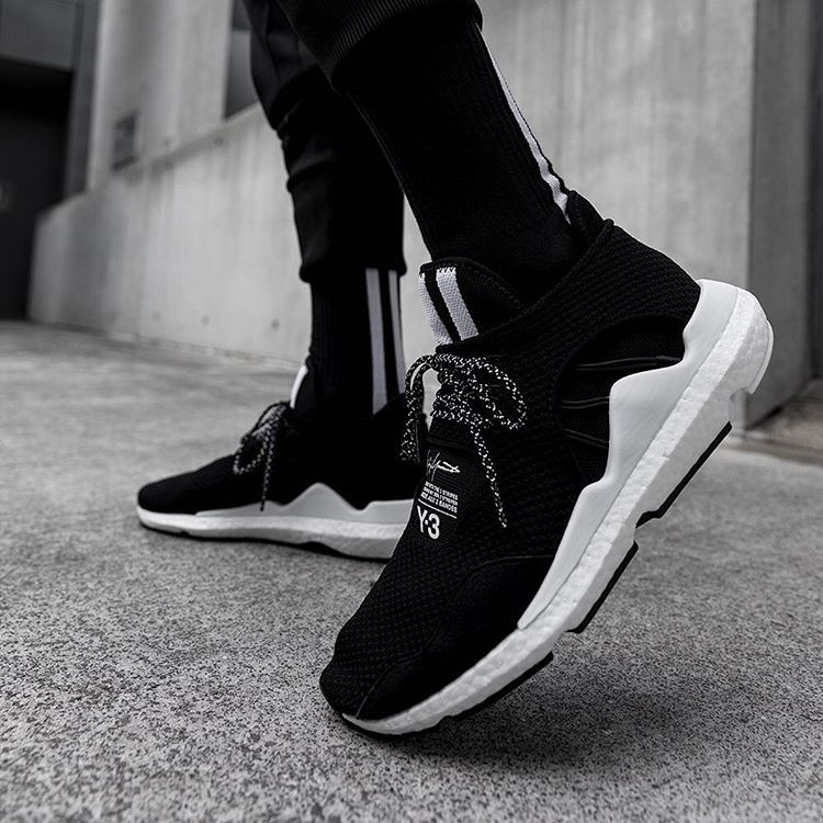 "5f9598c9c Y-3 on Instagram  ""Y-3 Saikou with white BOOST. 📸   parker ---  adidas  Y3   YohjiYamamoto  SAIKOU"""