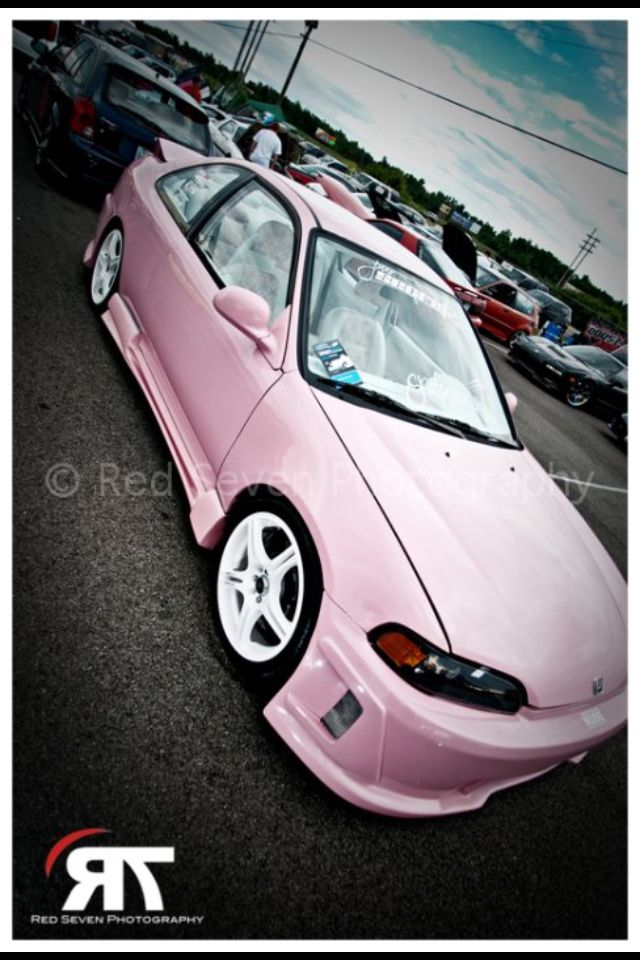 Pink Honda Civic (C) Red Seven Photography