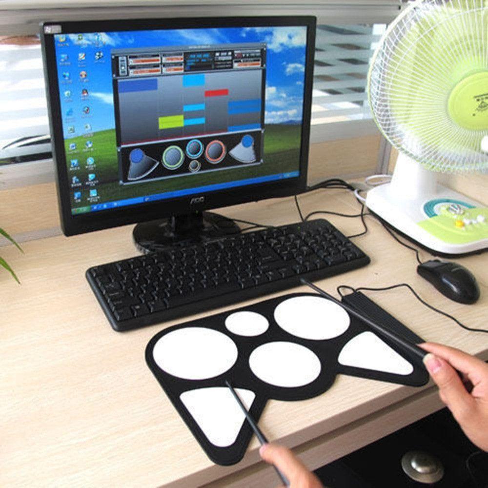 Portable USB PC Electronic Roll Up Drum Pad   Studio   Drum