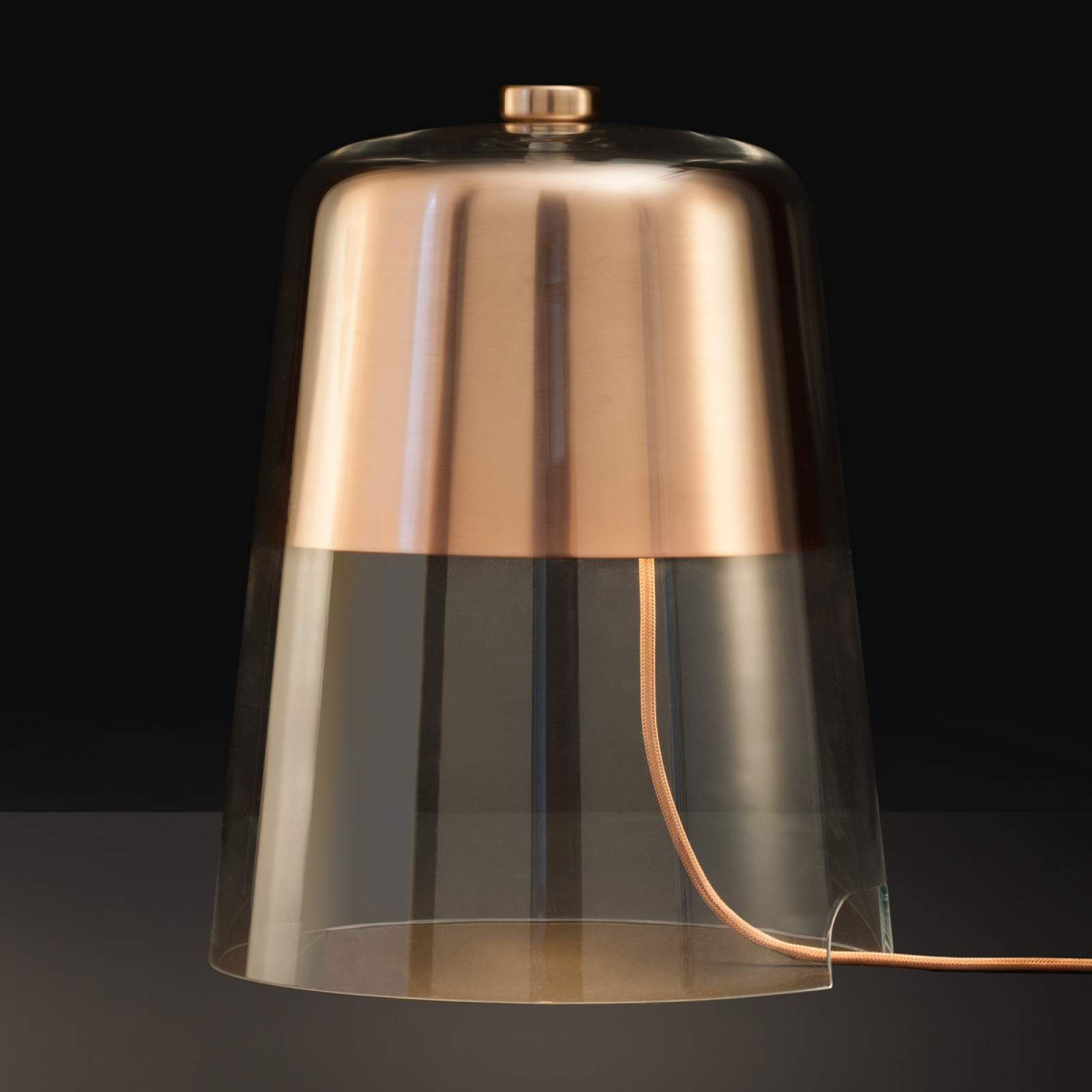 Designer Nachttischleuchte Semplice Von Oluce Kupfer