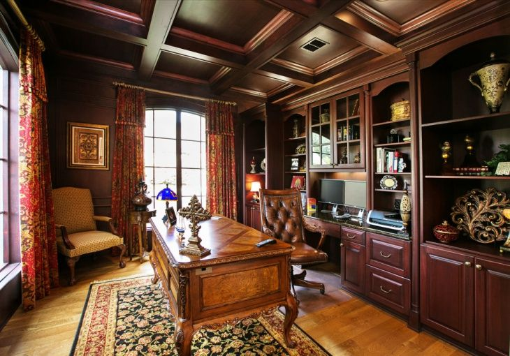 Traditional English Wall Decor 20 Masculine Home Office Designs