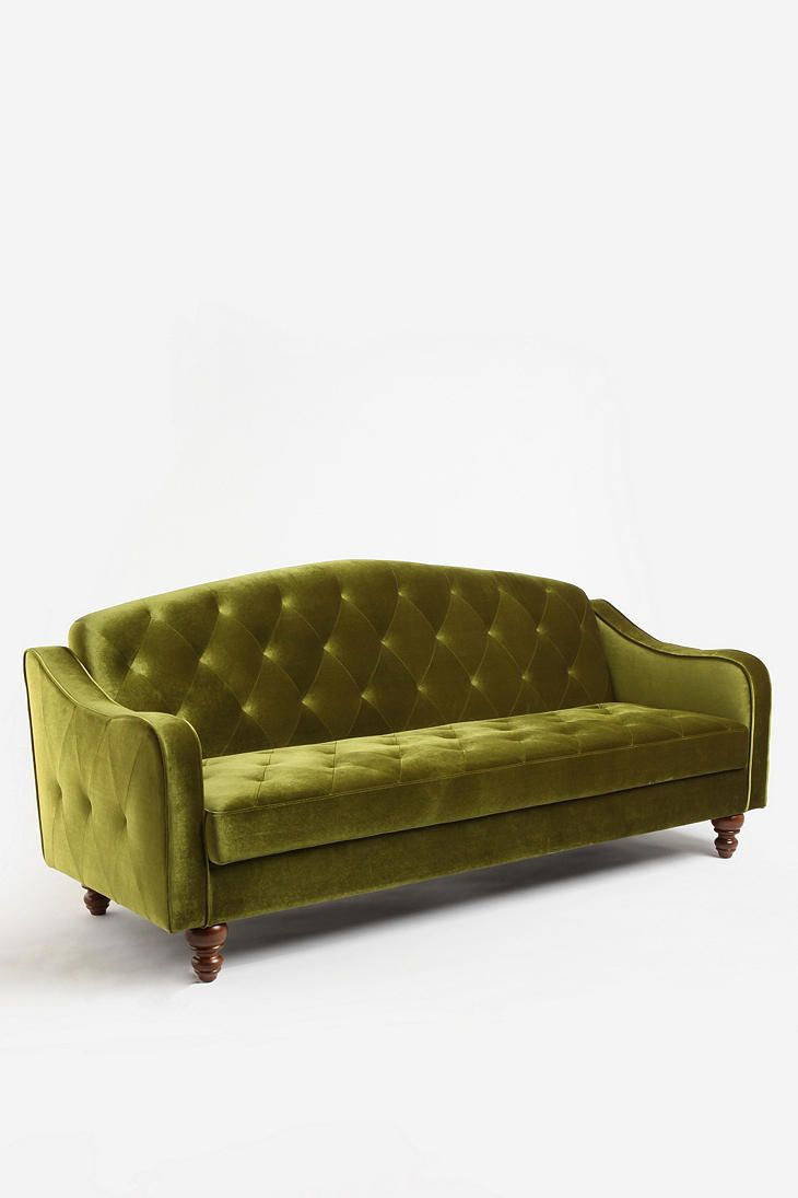 Ava Velvet Tufted Sleeper Sofa Urban outfitters Urban and Velvet