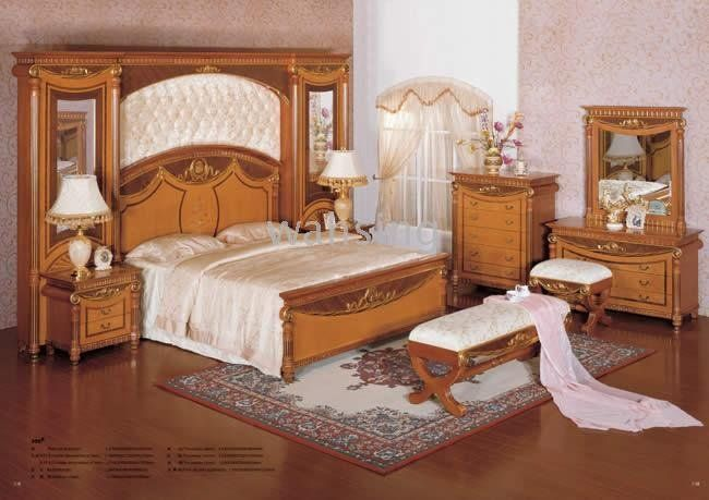 Wood Bedroom Set Wooden European American Style Antique Classic Royal Furniture 306 Birch Solid In Antiq Luxurious Bedrooms Modern Classic Bedroom Bedroom Sets