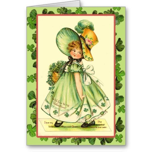 St. Patrick's Day Shamrock Queen Cards