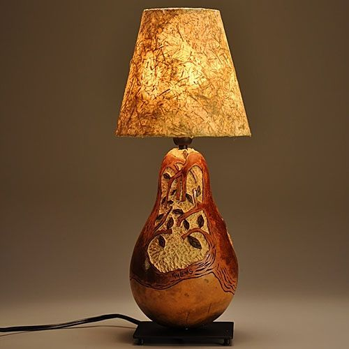 Custom Made Gourd Lamp Tree Design By Gourgeous Creations