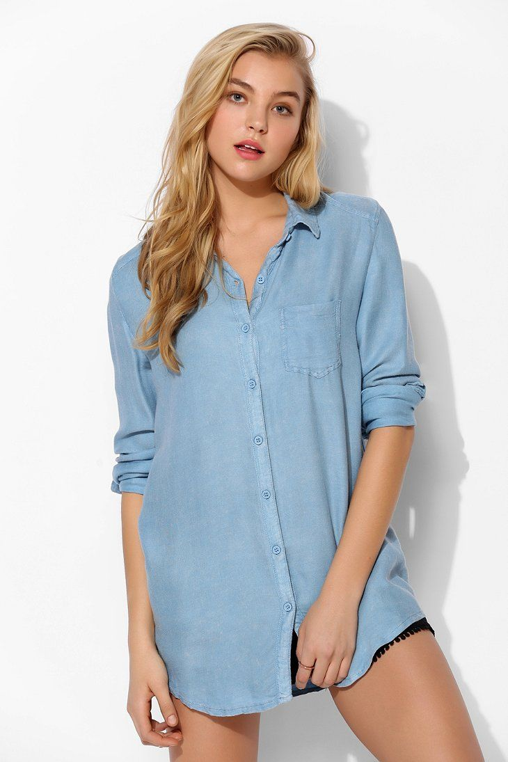 64a0db76 Margot Washed-Out Button-Down Shirt i want it in all colors ...