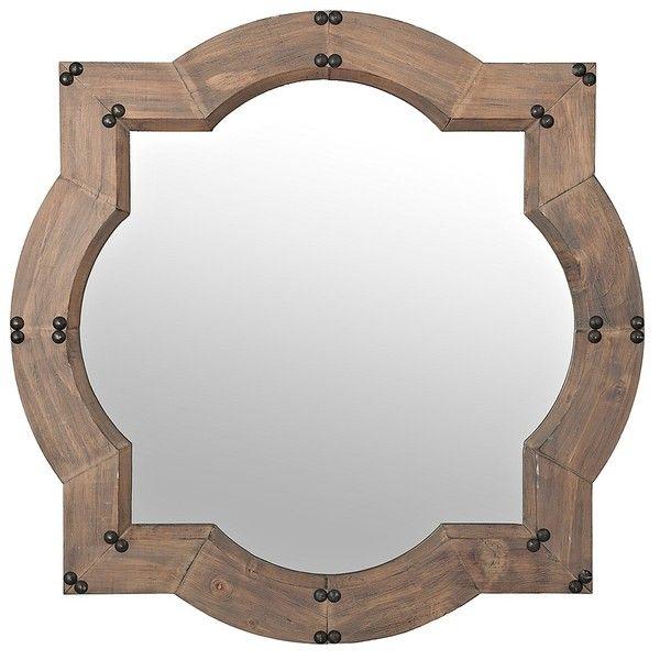 Weston Natural Wood Wall Mirror 60 Liked On Polyvore