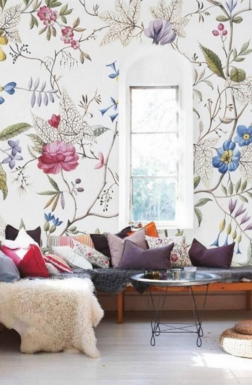 Vintage Floral Wallpaper Mural Peel & Stick Wall Paper