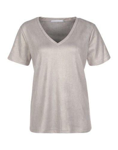 YAYA Damen Kurzarm Shirt Top Oberteil
