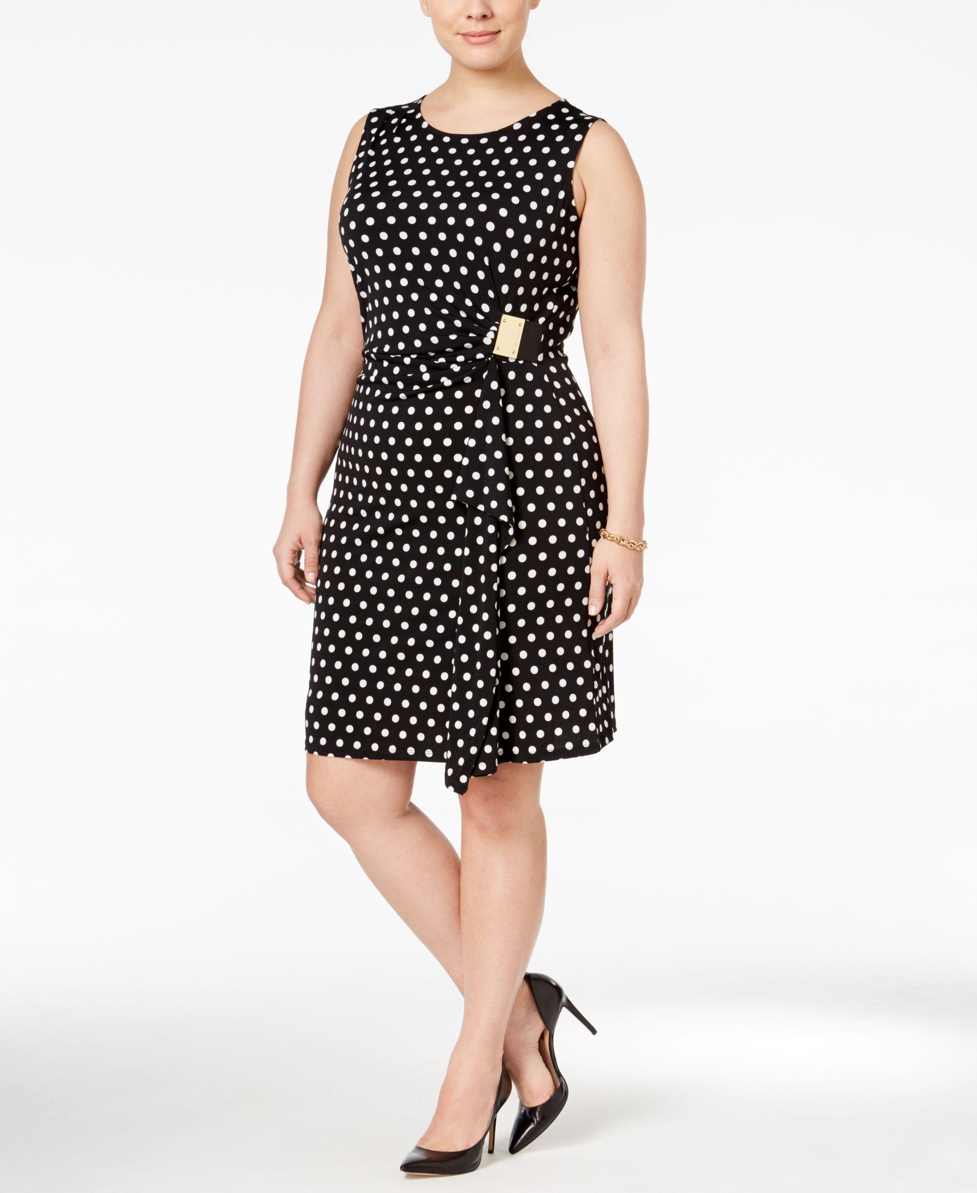 1b4fa30de04 Michael Michael Kors Printed Faux-Wrap Dress