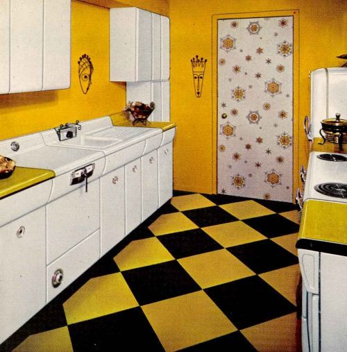 L Shaped Kitchen Layouts Six Designs From 1953 Avco American Kitchens Retro