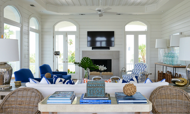 Beach Chic Decor | Coastal living rooms, House styles, Home living ...