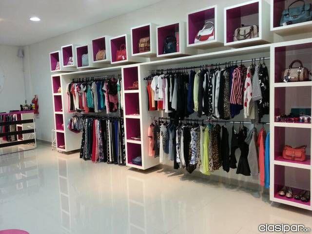 Resultado de imagen para muebles para una boutique for Decoracion de interiores locales de ropa