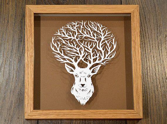 origami white stag Stock Photo: 106678335 - Alamy | 423x570