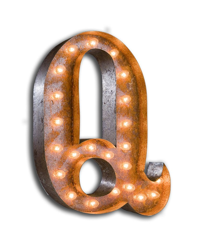 Letter Marquee Wall Light, Q
