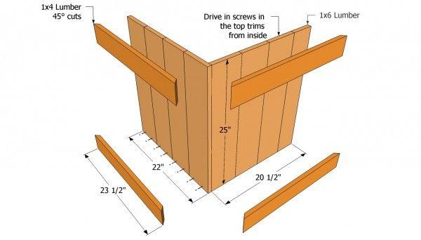 Planter Bench Plans Diy Wood Planters Wood Planters 400 x 300