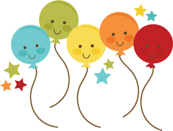 Balloons cute. Svg file for cards