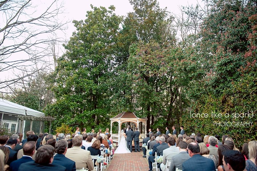 """""""A House United"""", gazebo wedding, outdoor ceremony, southern wedding, beautiful wedding photography, event space, gorgeous venue, norcross weddings, flint hill wedding :: Laura + RJ's Wedding at Flint Hill Mansion in Norcross, GA :: with Nikki"""