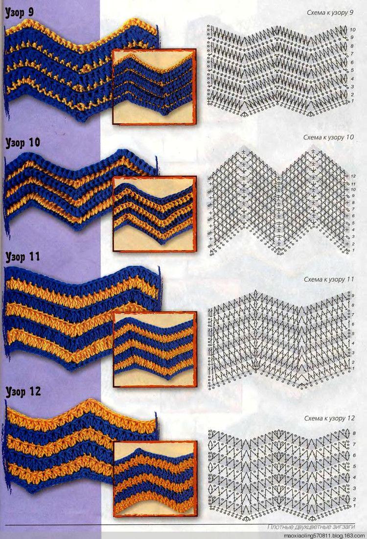 Conceptos básicos de ganchillo: 30 tipos de giros y vueltas patrón ...