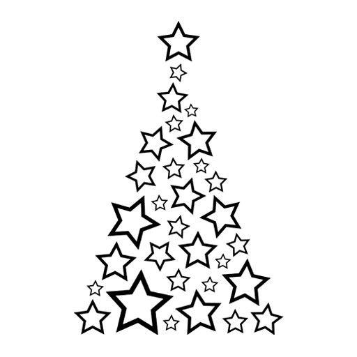 vinilo barato para escaparate de tiendas de un arbol de estrellas para decoracin de navidad