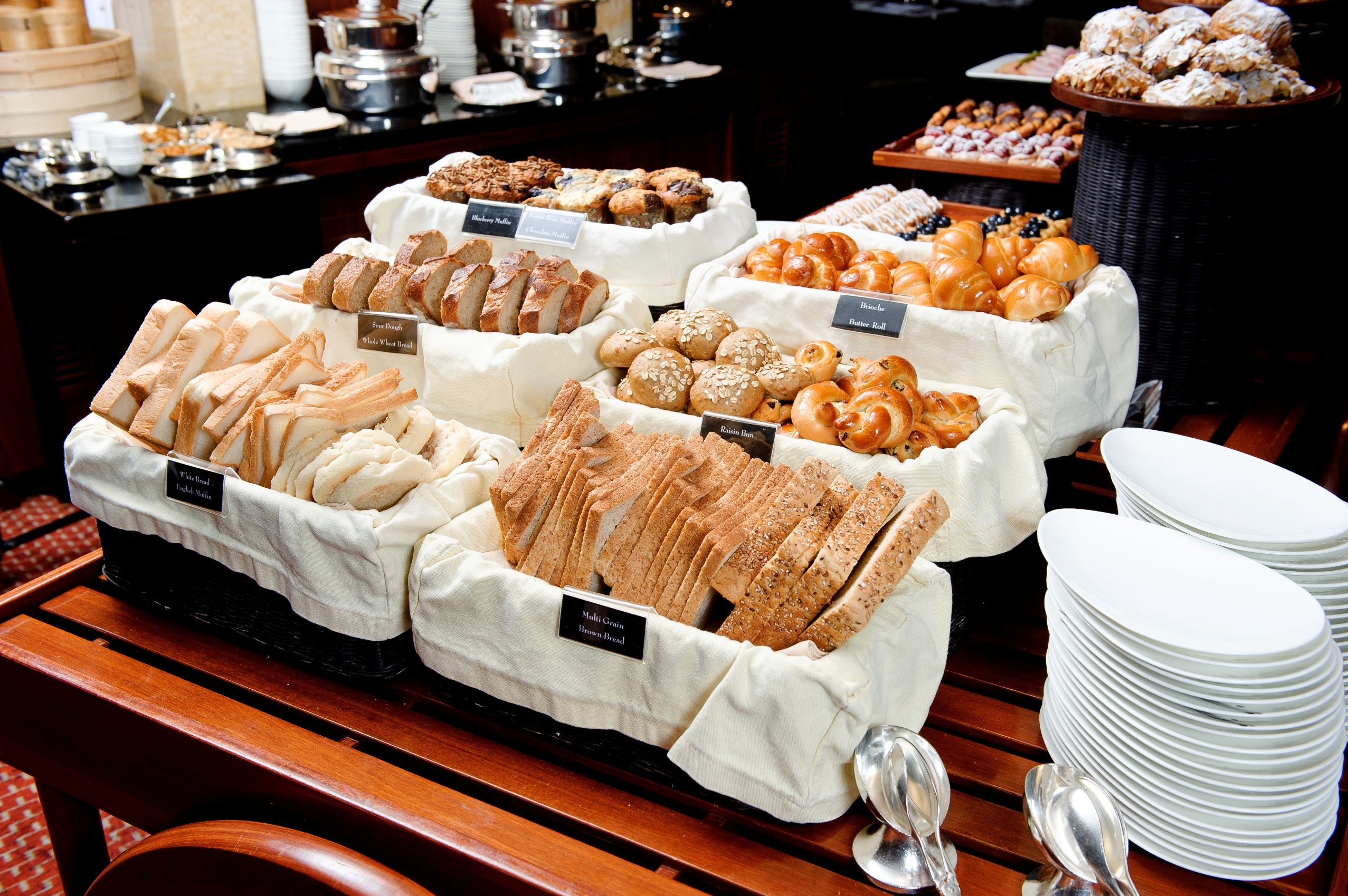 Bread Selection At Our Breakfast Buffet At The Clipper Lounge