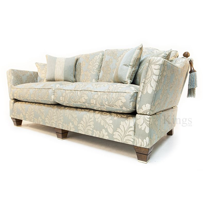Wonderful David Gundry Hampshire Knole Sofa In Duck Egg Blue Damask Www Kingsinteriors Co Uk Clearance
