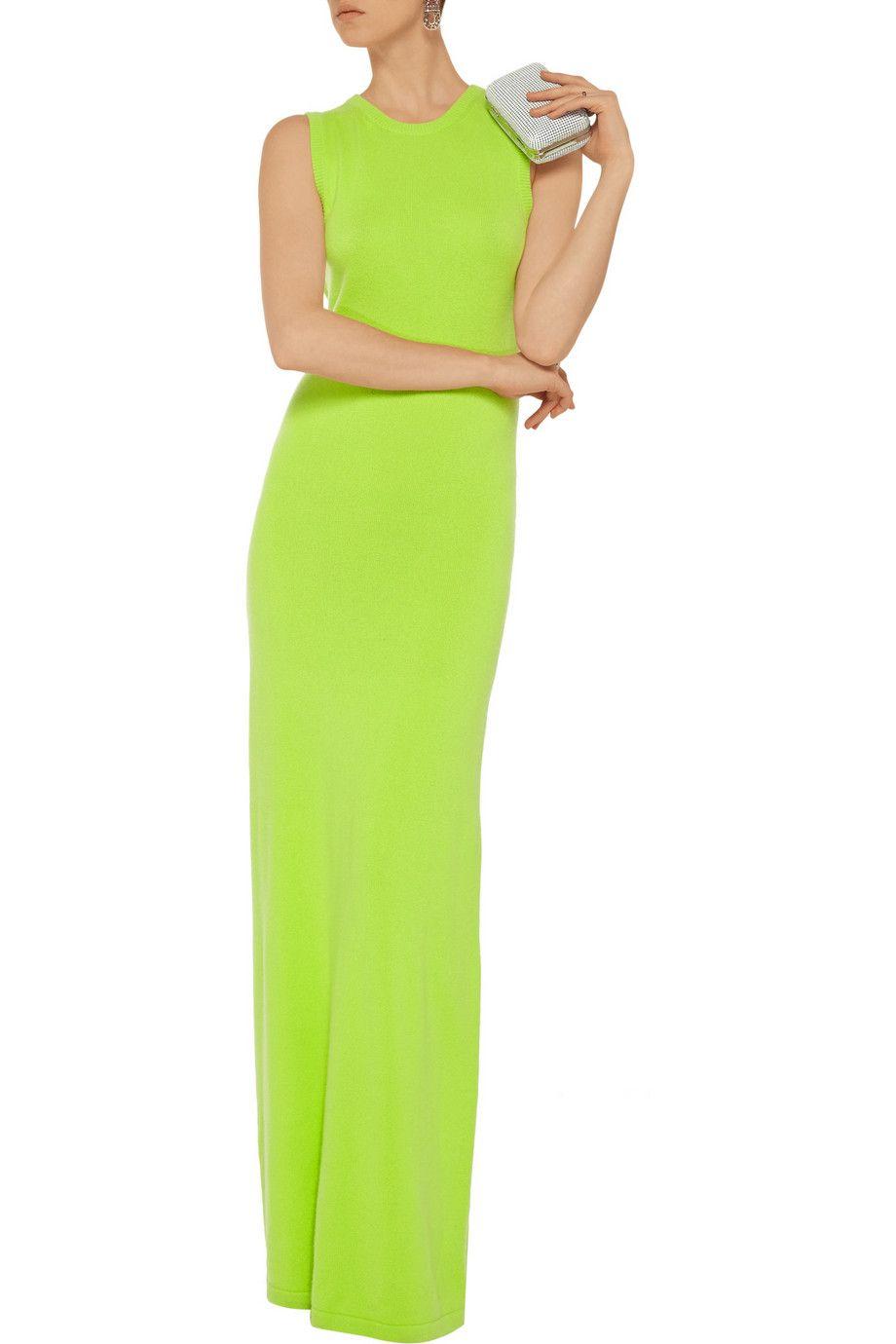 Oscar de la RentaCashmere maxi dress