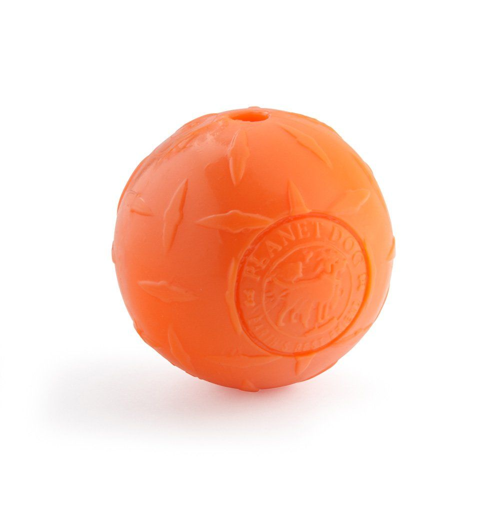 Planet Dog Orbee Tuff Diamond Plate Dog Ball Nearly